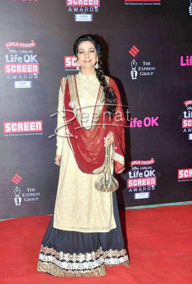Juhi Chawla at 20th Annual Screen Awards 2014