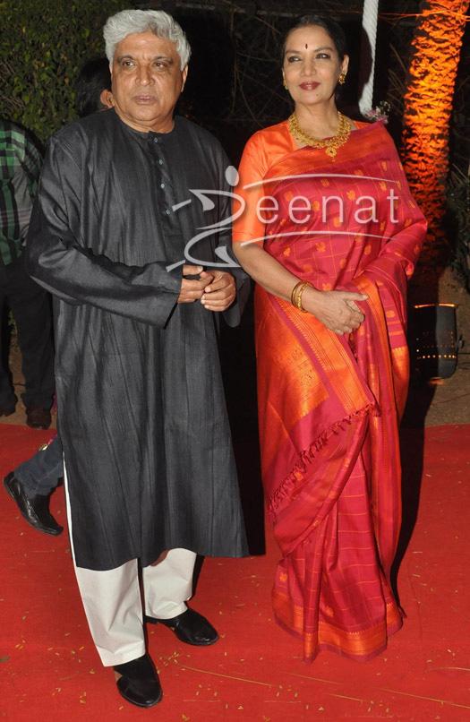 Shabana Azmi In Designer Saree