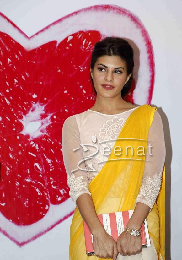 Jacqueline Fernand In Bollywood Saree