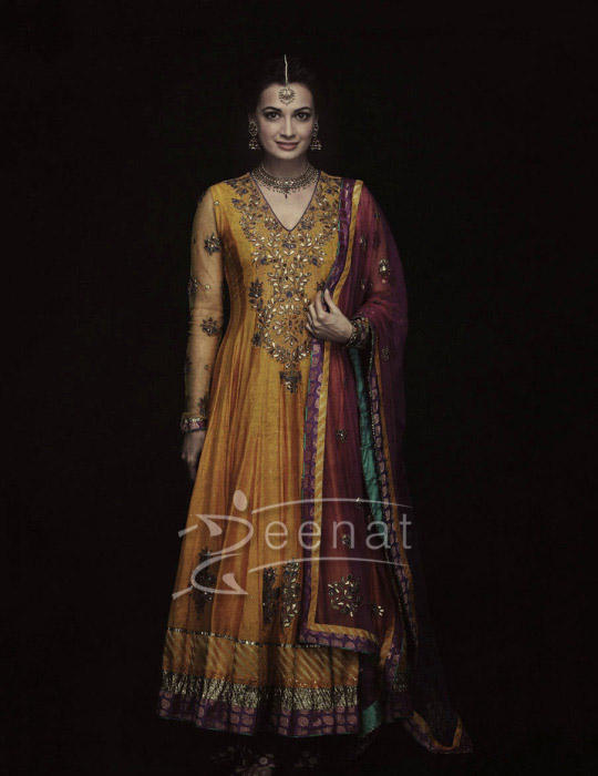 Dia Mirza Bollywood Anarkali Churidar Salwar Kameez