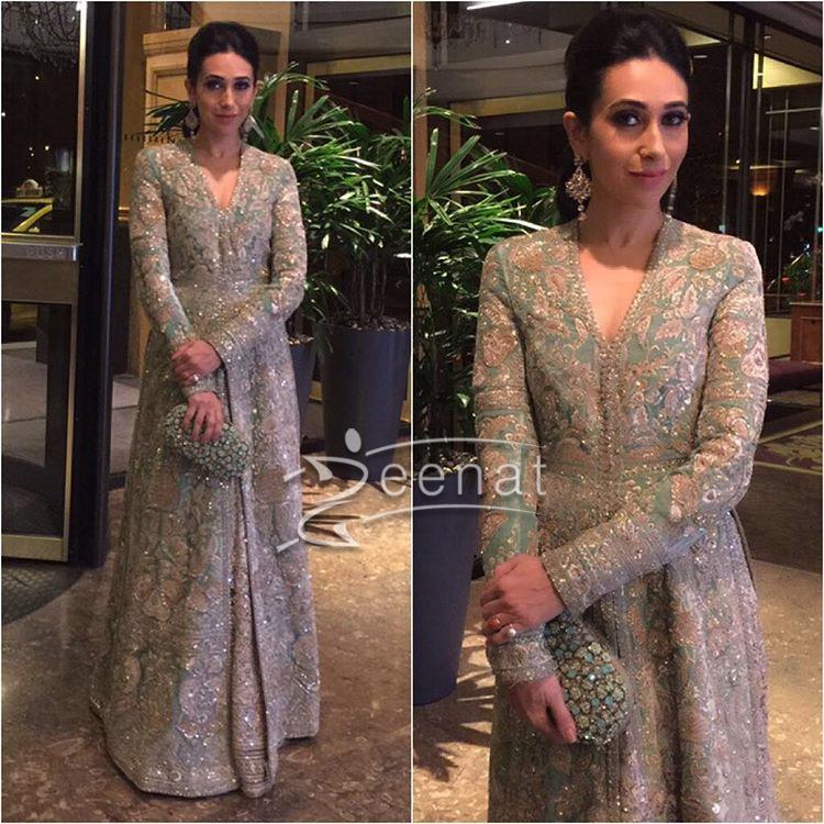 Karisma Kapoor In Sabysachi Mukherjee Dress