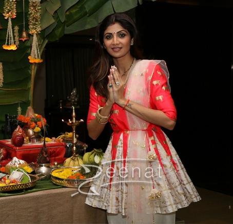 Shilpa Shetty In Masaba Gupta Tulip Salwar and Top