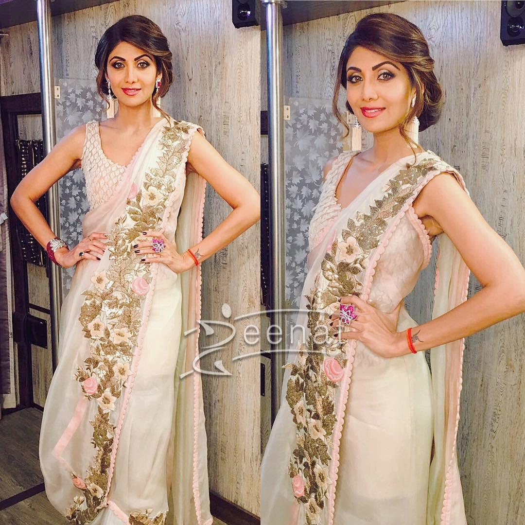 Shilpa Shetty In Anamika Khanna Saree