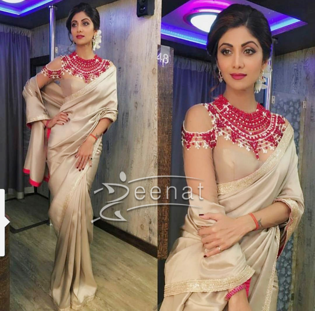 Shilpa Shetty In Manish Malhotra Backless Saree
