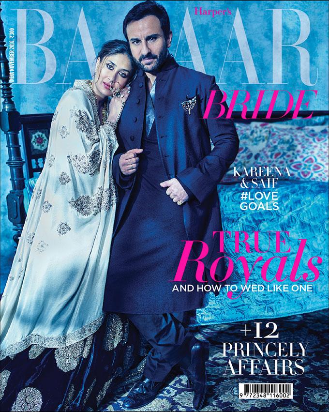 Kareena Kapoor Khan & Saif Ali Khan On The Cover of Harpers Bazaar Bride