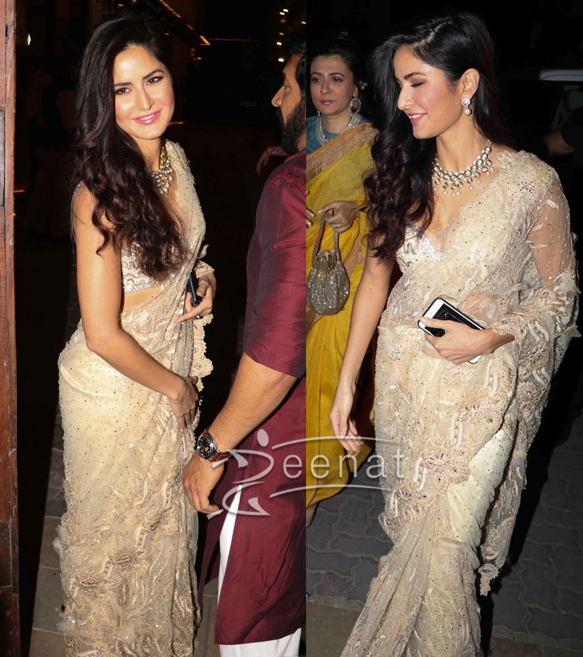 Katrina Kaif Designer Saree for Diwali 2016