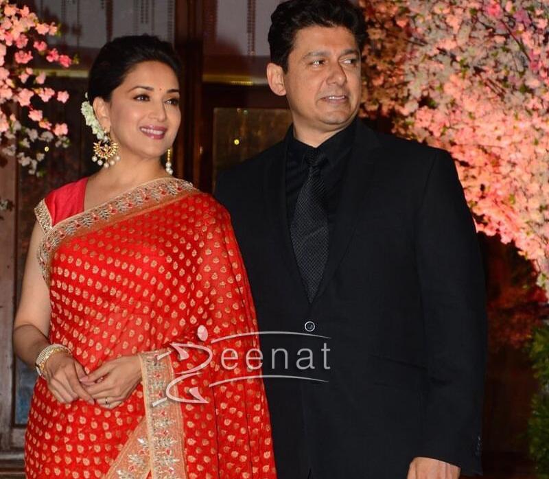 Madhuri Dixit in Anita Dongre Red Saree