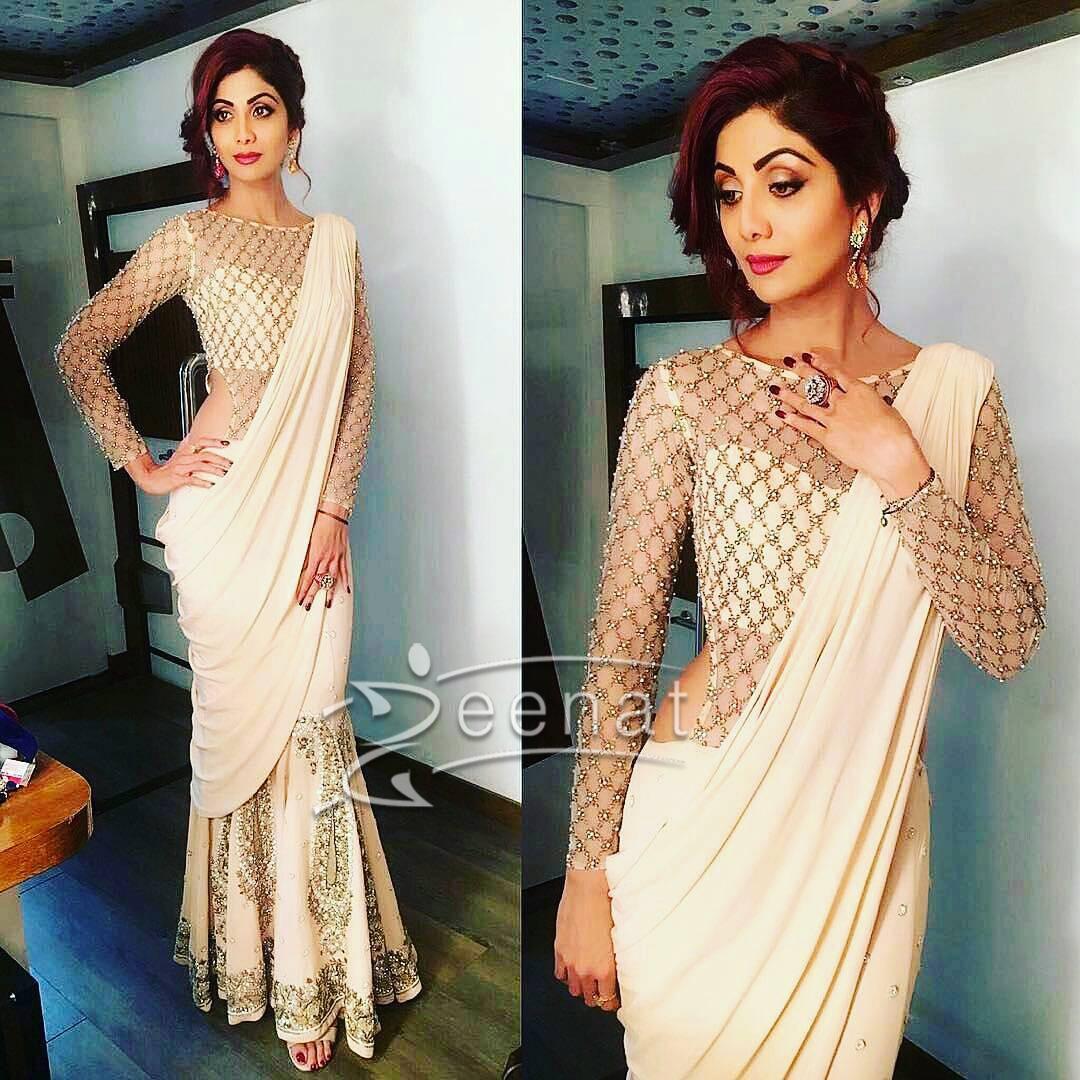 Shilpa Shetty in Monica Jaising Saree