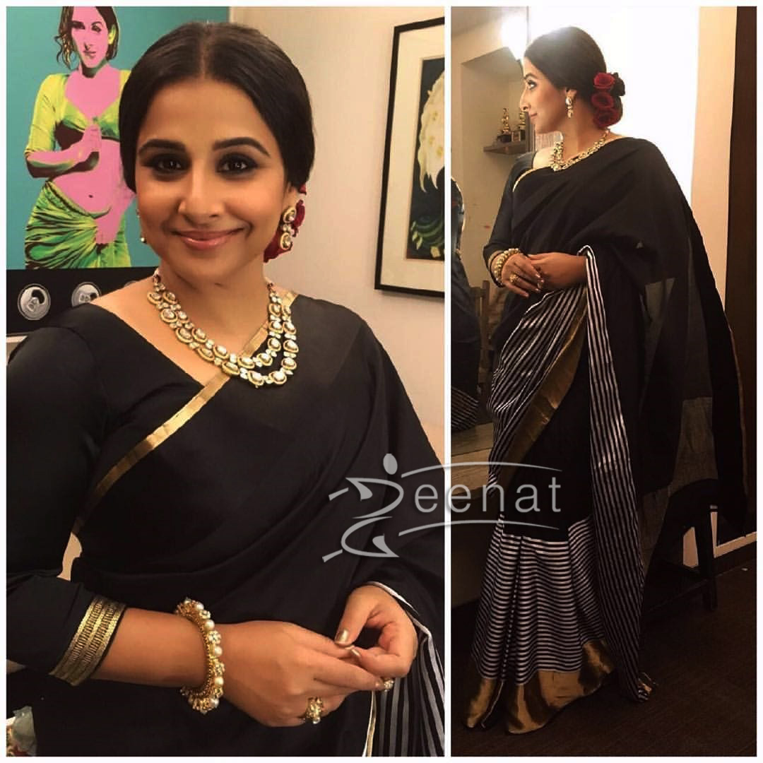 Vidya Balan in Raw Mango Saree | Film Fare Awards 2017