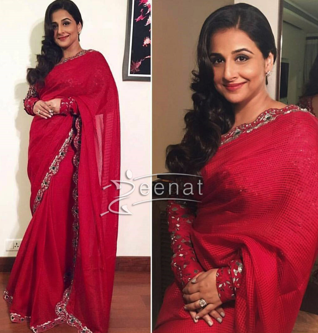 Vidya Balan In AM PAM Red Saree