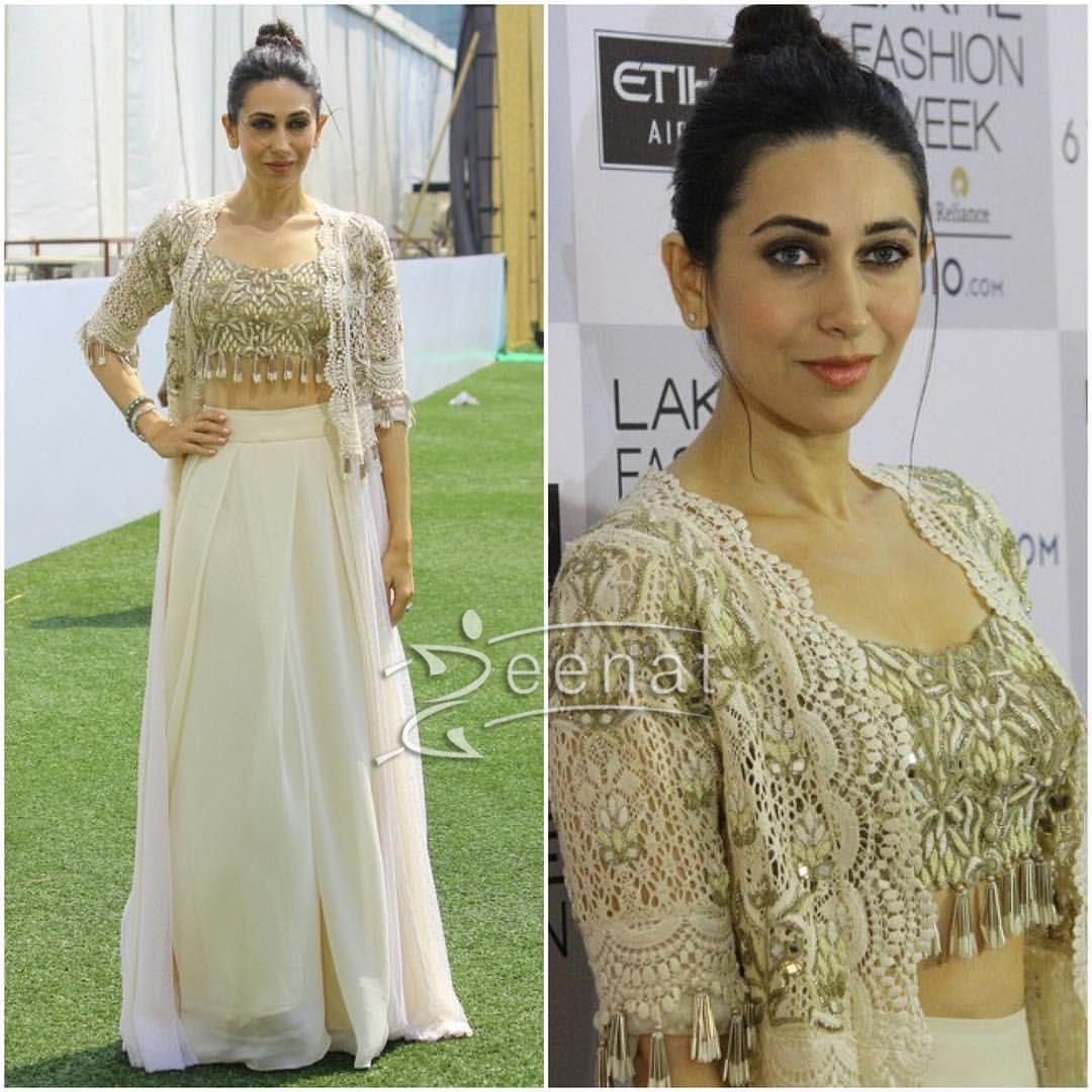 Karisma Kapoor In Arpita Mehta at Lakme Fashion Week 2017