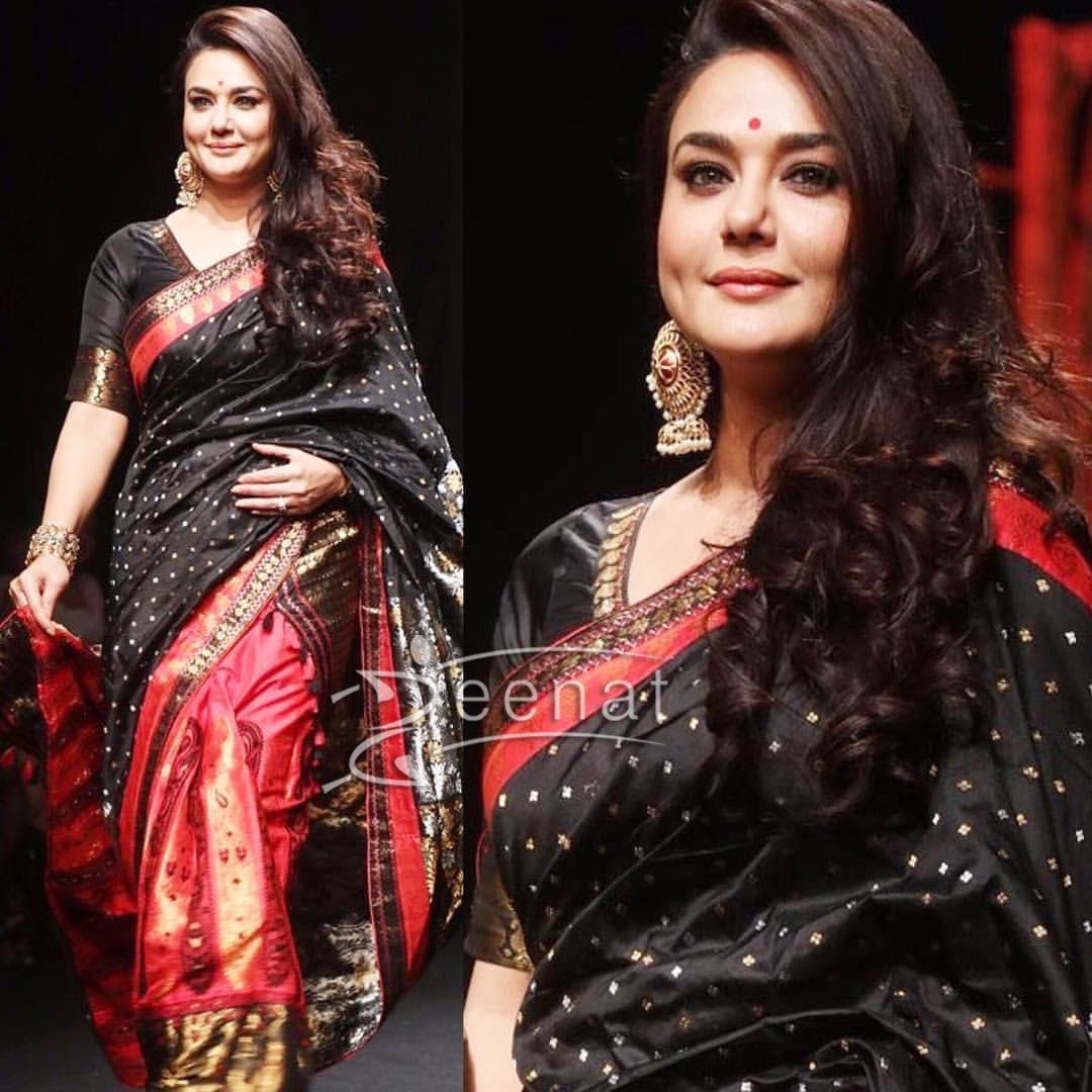Preity Zinta In Sanjukta Dutta at Lakme Fashion Week 2017