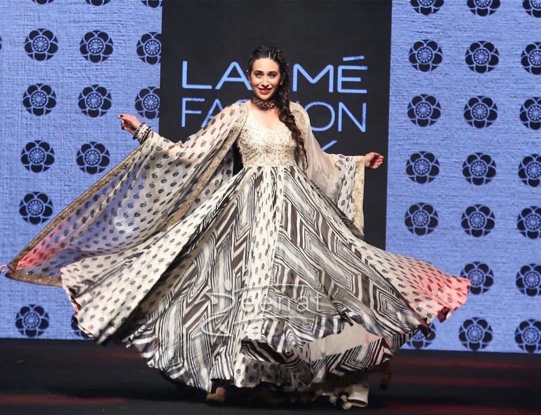 Karisma Kappoor in Punit Balana Monochrome Dress